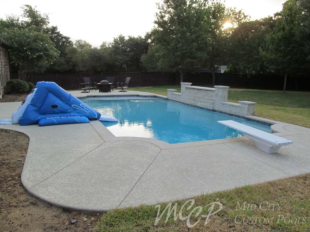 Geometric Swimming Pool Gallery Forth Worth Southlake