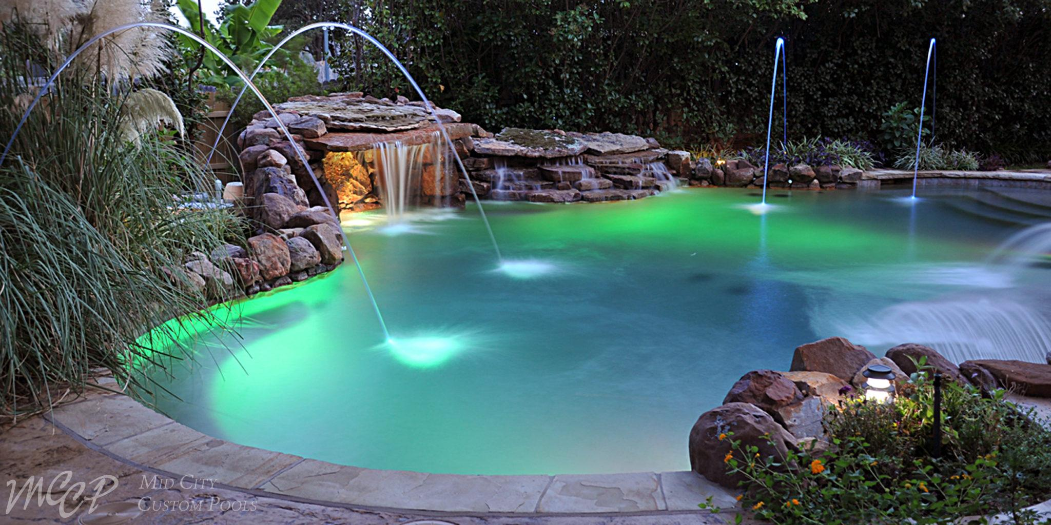 Top trends in home swimming pool design mid city custom - Best home swimming pools ...
