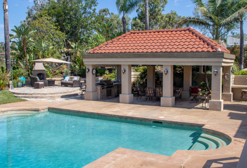 Why You Should Have A Pool Cabana in Your Backyard Mid City Custom Pool Hurst