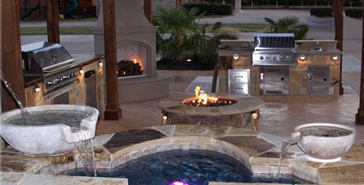 The Benefits of a Fire Feature - Mid City Custom Pools