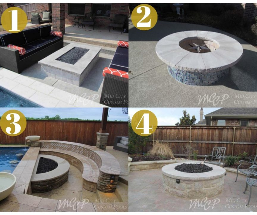 The Different Types of Fire Features - Mid City Custom Pools
